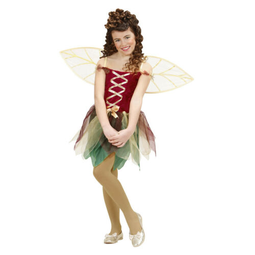 FANTASY FEE KOSTÜM KINDER Karneval Party Elfen Kleid Mädchen Flügel 128//140 1299