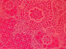 "LIBERTY ART FABRICS ""NICHOLAS JAMES"" PER HALF METRE (50cm) tana lawn cotton PINK"