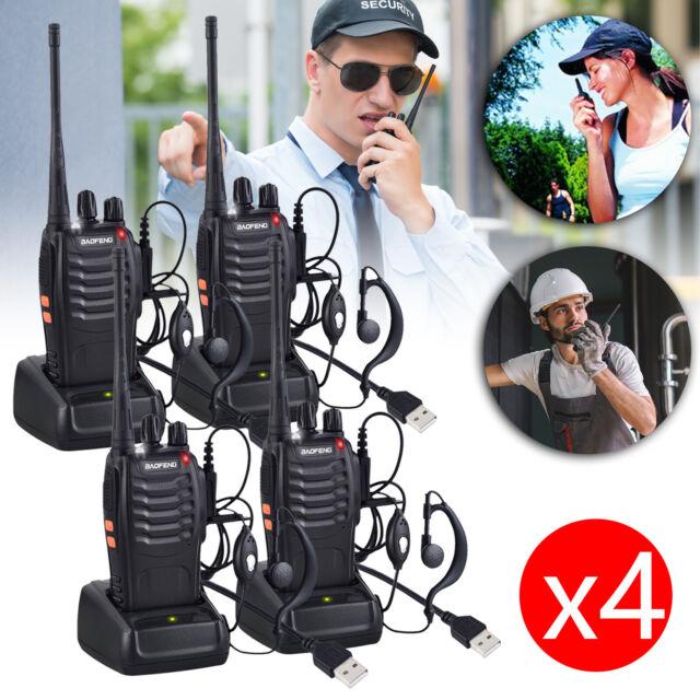 4X Baofeng BF-888S Radio Long Range Walkie Talkie 2-Way 16CH UHF 400-470MHZ