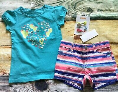 Gymboree 4 10 Set Butterfly Tank Top Mermaid Cove Chambray Shorts NWT Outlet