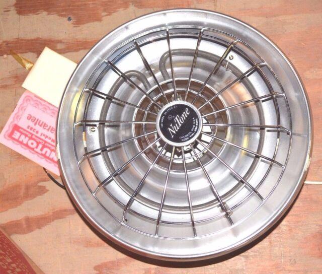 Nutone New Radiant Ceiling Bathroom Heater 9285 Silver Anodized Aluminum 1000w