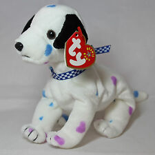 Ty Beanie Baby Dizzy - MWMT (Dog w/ Black Ears & Colored Spots)