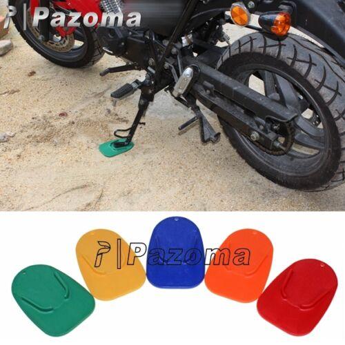 6 Colors Motorcycle Kickstand Side Stand Plate Pad Base Fits Yamaha Honda Hot