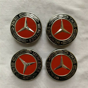 4pcs-x-For-Mercedes-Benz-Wheel-Center-Caps-Emblem-Black-Red-Chrome-Hubcaps-75MM