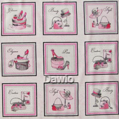tissu, patchwork mode 21 minibilder chaussure Chaussures sacs 45x110cm