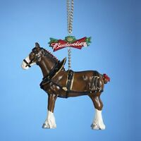 Kurt Adler Budweiser Clydesdale Horse Christmas Ornament, New, Free Shipping