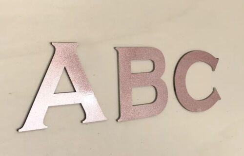 4 X Personnalisé Chambre Porte Signe//lettres//coffre à jouets fille or rose 20 cm