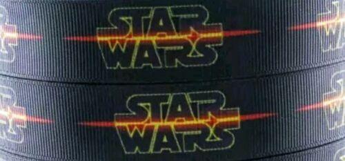 "7//8/"" 2 YARDS Star Wars Grosgrain Ribbon Scrapbks Lanyards Crafts Hair Bows Cards"