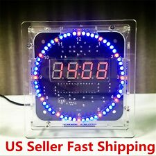 Rotating LED Electronic Temperature Display Digital Clock DIY Learning Kit Box