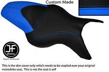 BLACK L BLUE VINYL CUSTOM FITS BMW K 1200 R 05-08 K 1300 R 09-13 DUAL SEAT COVER