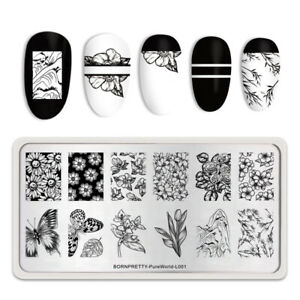 BORN-PRETTY-Stamping-Plate-Rectangle-Nail-Art-Printing-Tool-Pure-World-L001