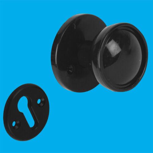 2x 50mm Negro Borde De Plástico Manija de la puerta de caja insertada 2 Redondo Perillas redondas Rosas