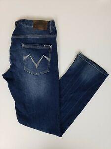 Jeans Seven 7 Para Hombre Talla 34x34 Denim Ajustado Recto Pantalones Vaqueros Lavado Oscuro Ebay