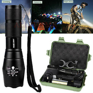 5000LM-XML-T6-Zoomable-LED-Tactical-Flashlight-18650-Battery-Charger-Torch-Lamp