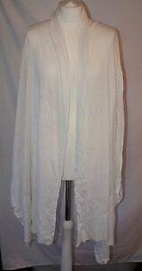 White Whistles Cotton Top Wrap Linen Size Uk12 3 Cadigan Bnwtt Medium pBnOSwB