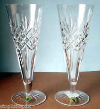 Waterford Crystal Long Drinks Pilsner Beer 2 Glasses Made In Ireland NEW In Box