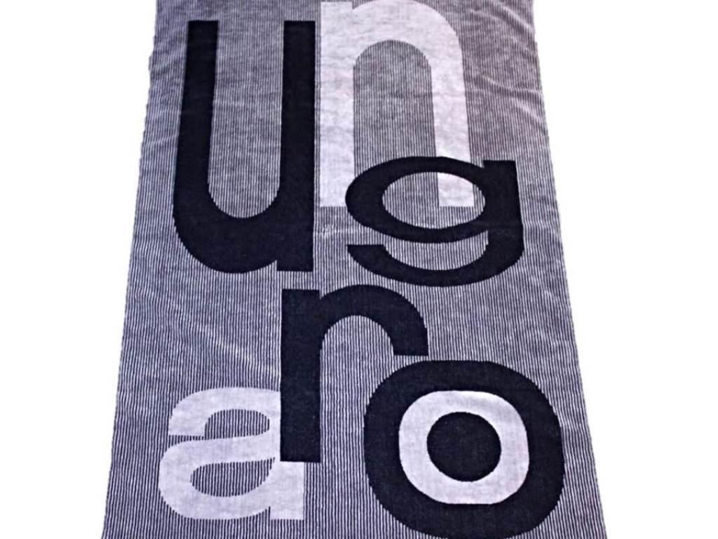 EMANUEL UNGARO Paris BATH oder BEACH Club Towel 100% COTTON Logo STRIPES Kreise