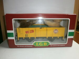 LGB-44210-Lehmann-Gartenbahn-Hochbordwagen-Gueterwagen-2-Steiff-Teddys-OVP-Spur-G