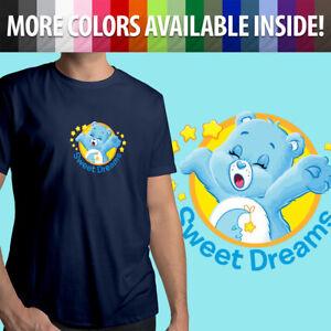 Care-Bears-Bedtime-Bear-Sleepy-Sweet-Dreams-Cartoon-Unisex-Mens-Tee-Crew-T-Shirt
