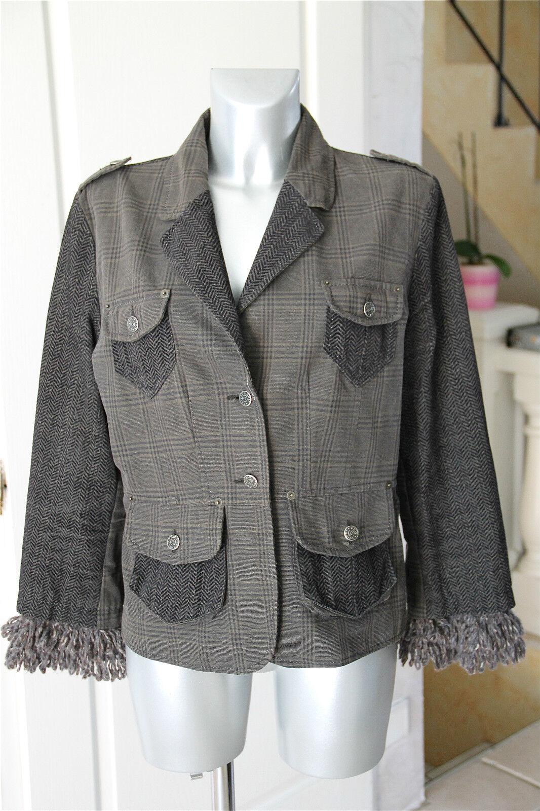 Carino giacca inverno di lana LAVORATO A MAGLIA ELEGANTE taglia 44 valore