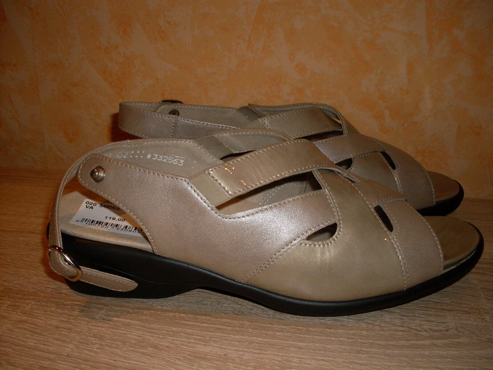Solidus Sandalette NEU Gr. 8,5 42,5 & K in platinfarben Lack & 42,5 Nappa Leder 1686d3