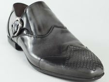New  Cesare Paciotti  Gray Patent Leather Shoes UK 8.5 US 9.5