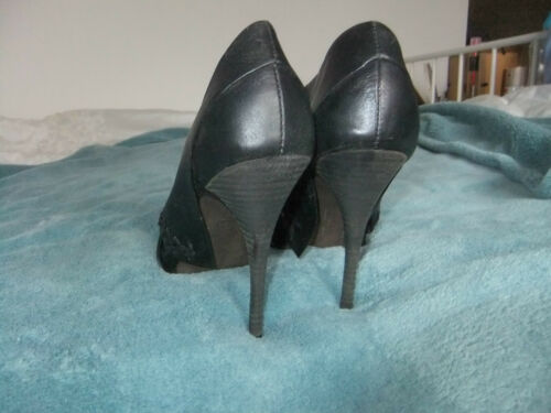 Shoes Leather Stiletto Heel Bn Size Black 38 All Saints Detail Collar 50xn1Yw