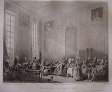 Grande gravure du Salon du Prince de Conty au Temple Mozart enfant Bagarotti