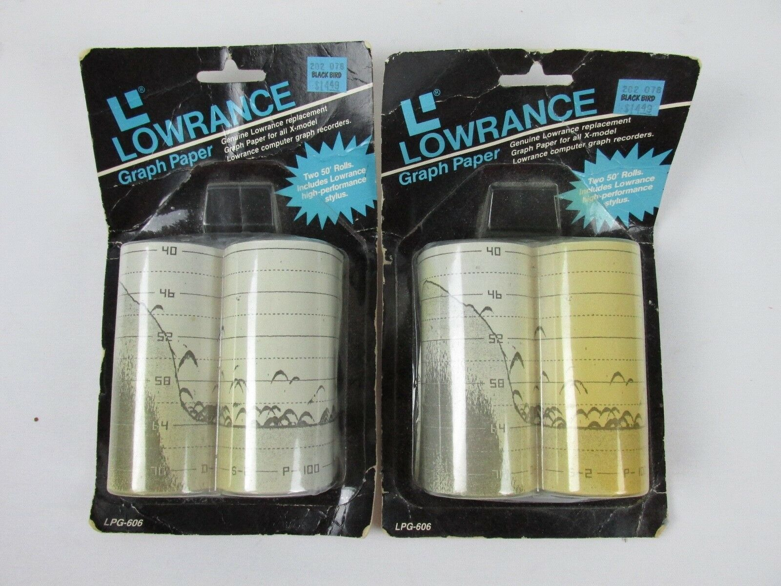 Lowrance Fish Finder LPG-606 Graph Paper w  Stylus 50' Graphing Fishing 4 Lot