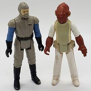 Vintage-1982-Star-Wars-Admiral-Ackbar-General-Madine-Action-Figure-Lot-Kenner