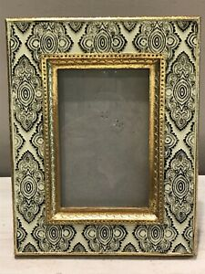 Black-amp-White-Gold-Textured-Composite-4x6-Photo-Pucture-Frame-Free-standing