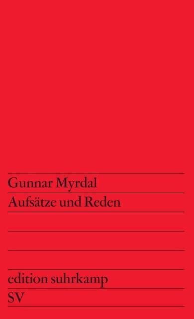 Aufsätze und Reden von Gunnar Myrdal (1971, Taschenbuch)
