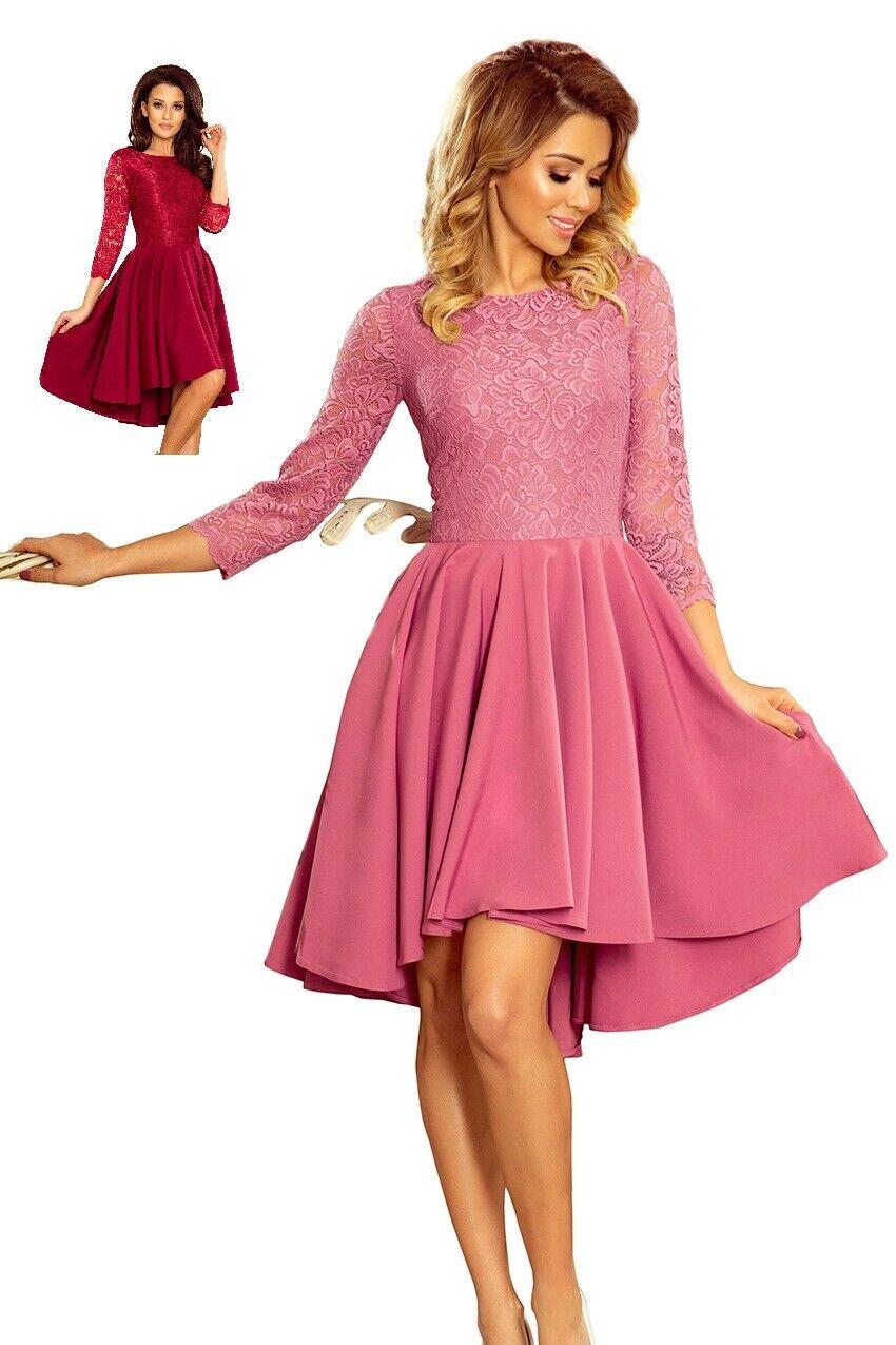 Numoco Kleid Abendkleid 36 38 40 42 44 figurbetont 3 4-Arm Spitze A-Linie