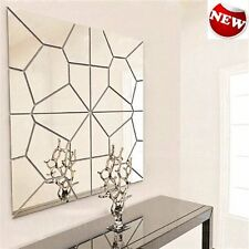 DIY Mirror Wall Sticker Decal Art Removable Pattern Mural Home Bath Room Decor 7