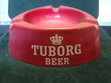 Vintage Tuborg Beer European ashtray advertising Made in Italy Barware red