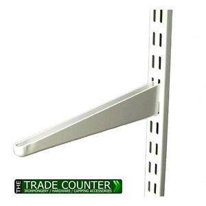 Twin-Slot-Shelving-System-White-Brackets-Uprights-Metal-Adjustable-Racking