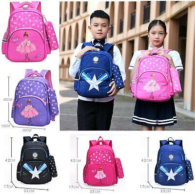 UK kids Girls Boy Waterproof Light Travel Backpack Shoulder School Bags Rucksack