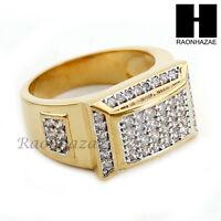 Men Bling Bling Iced Out Hip Hop Ring Lab Diamond Ring Size 8-12 Sr020cl