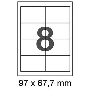 100-Bogen-A4-800-Etiketten-97x67-7-mm-Format-wie-Avery-Zweckform-3660-4782-4359