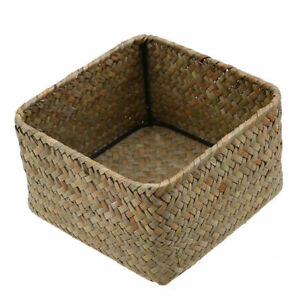 Handmade-Storage-Box-Seagrass-Woven-Flower-Basket-Fruit-Container-Organizer