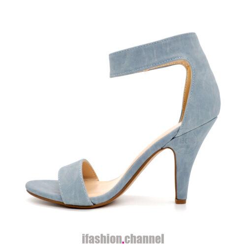 Hot Women Open Toe High Heel Dress Sandal Fastener Ankle Strap Wedding Rosela