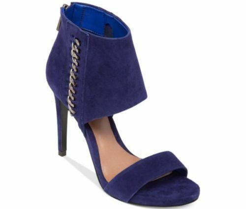 Vince Camuto Freya Open Toe Suede Outer Space 6 Navy Blau Booties Sandales 6 Space M New 64d09e
