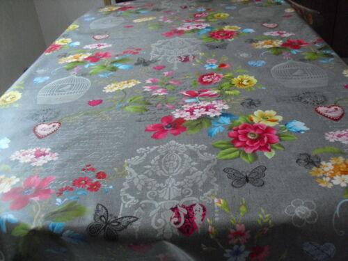 Tischdecke Wachstuch Rund 90-140 cm Abwaschbar Schmetterlinge Blumen