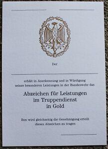 Original-Bundeswehr-blanko-Urkunde-Leistungsabzeichen-Gold