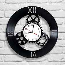 Clockwork design vinyl record clock home decor art gift club pub bedroom office