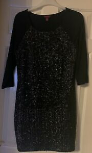 Designer-label-Ted-Baker-Size-14-16-Black-Sequin-Bodycon-Dress-250-when-new