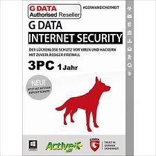 G DATA Internet Security 2017 3 PC 1 Jahr | VOLLVERSION / Upgrade | Gdata NEU DE