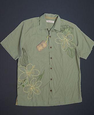"TOMMY BAHAMA /""Island Geo/"" Geometric Pattern S//S Silk Camp Shirts NEW NWT"