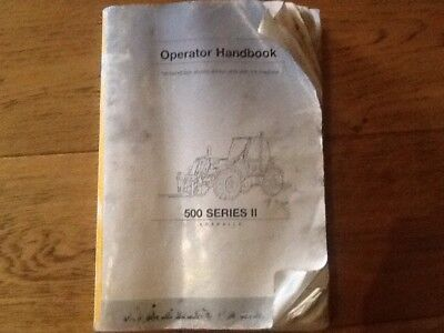 Heavy Equipment Jcb 500 Series Il Loadalls Operator Handbook Part No 9801/8980