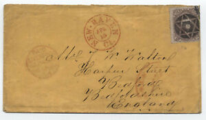 1864-70-24ct-1861-New-Haven-CT-to-England-fancy-cancel-y4278